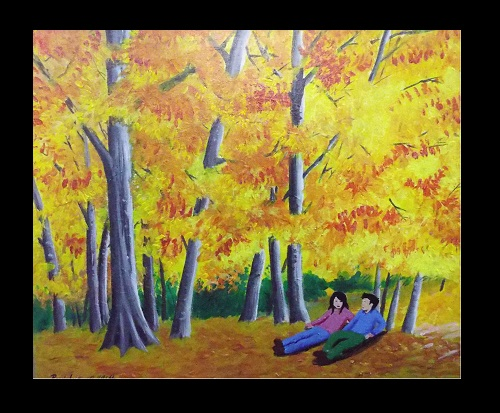 Acrylic paint Autumn