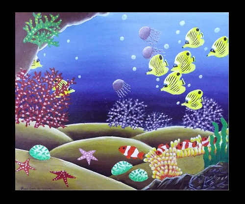 Canvas Art Coral Reef