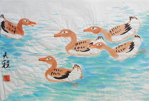 Chinese Painting  Ducks