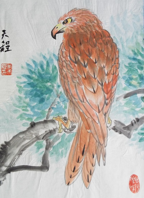 Chinese Painting Hawk