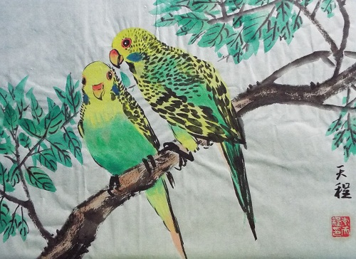 Chinese Painting  Parrot