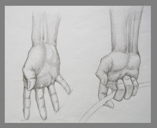 Pencil Drawing Art Hands