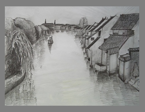 Pencil Drawing Art Scenery