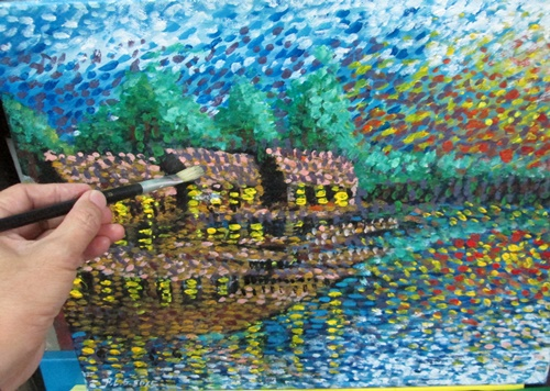 Acrylic painting Modern Impressionism