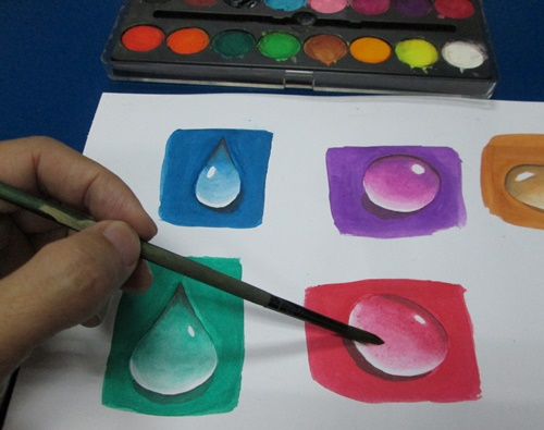 Watercolour effect Droplets