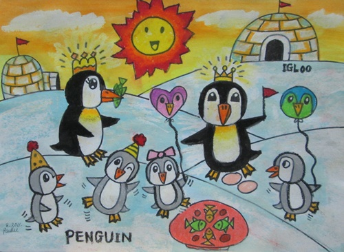 Foundation Art Penguin Drawing