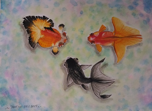 Watercolour Goldfishes