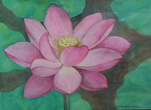 Water colour Lotus 1