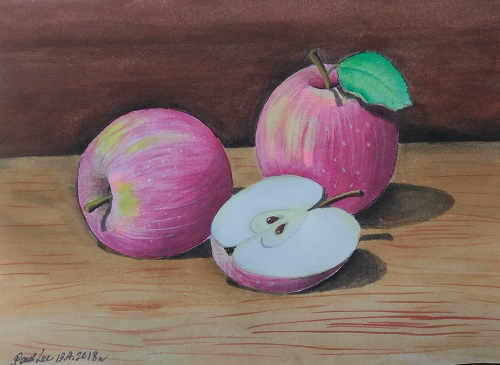 Watercolor Still Life Apples