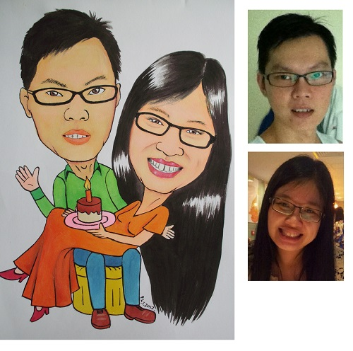 Caricature Couple Anniversary