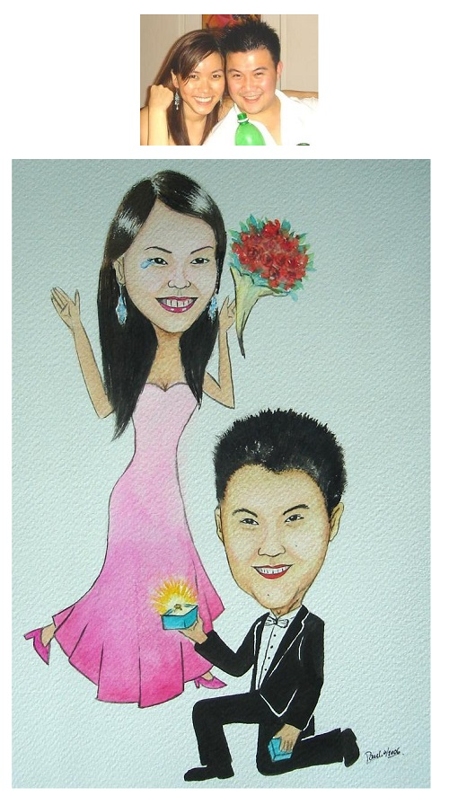 Caricature Art Couple