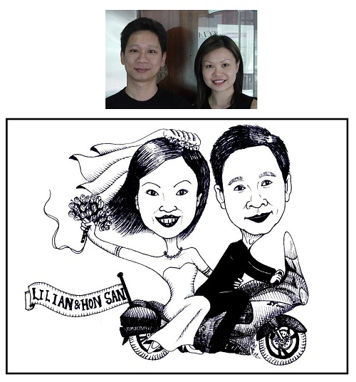 Caricature for Couple in Ink