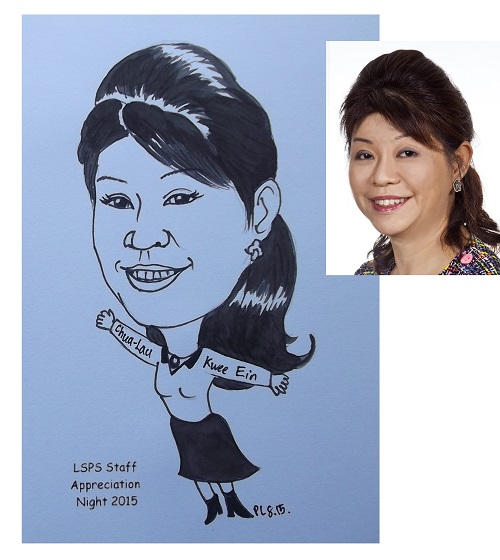 Caricature for individual in Ink