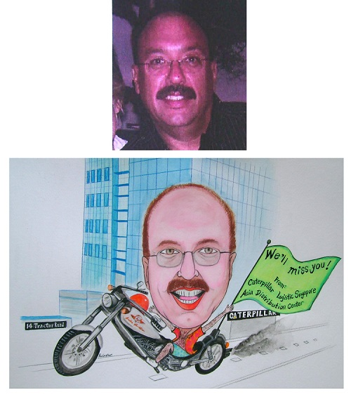 Caricature Farewell Gift