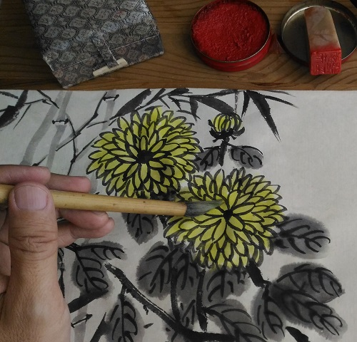 Chinese Painting Demo flower