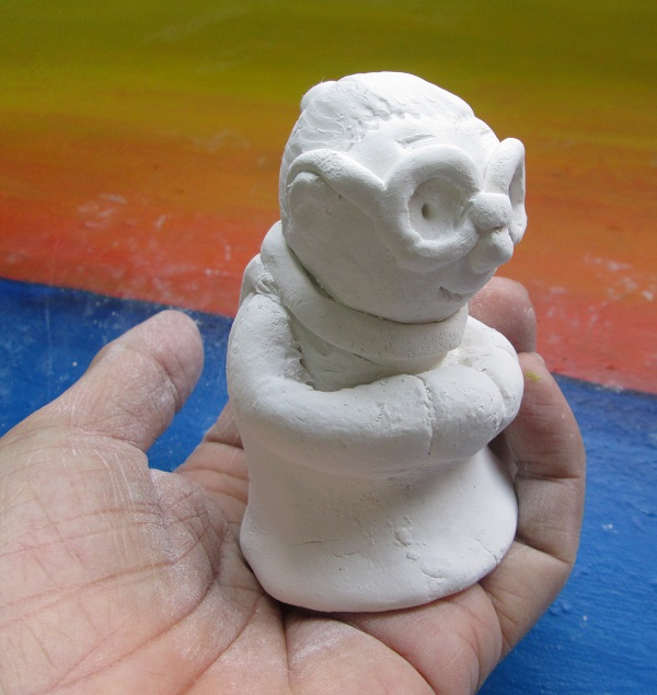 Clay Model Cute grandma