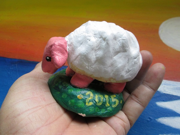 Clay Model coloured Sheep
