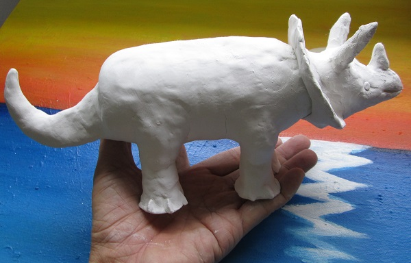 Clay Model Triceratops