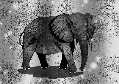 Digital Art Elephant
