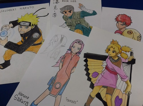 Manga Art in Water colour
