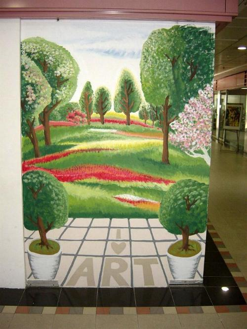 Mural art sample Scenery