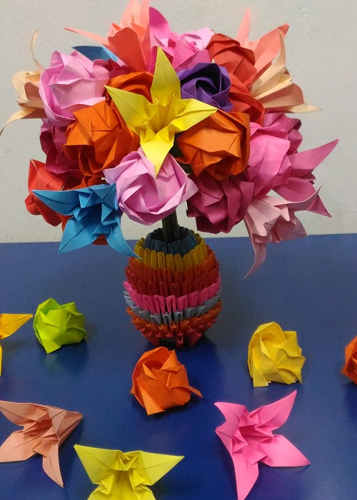 Origami Bouquet of flowers
