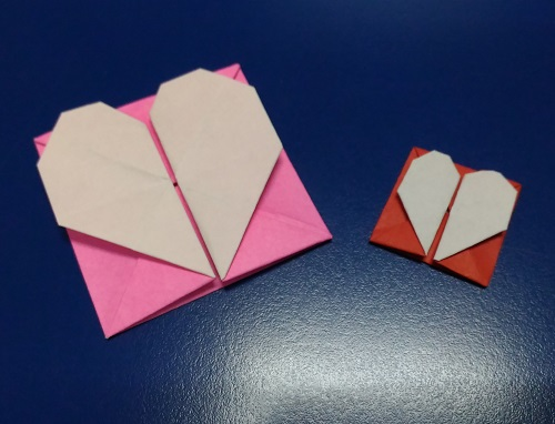 Origami Heart with foldable Container