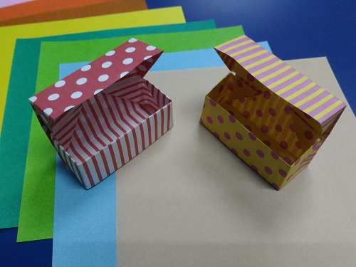Origami Treasure Box model 1A