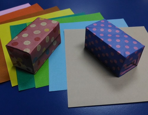 Origami Treasure Box model 2B