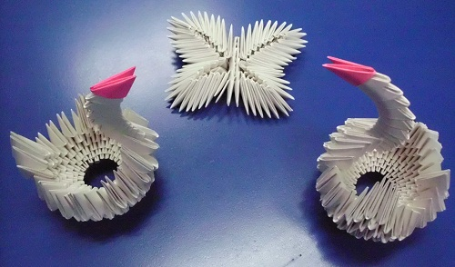 Origami Modular Models Swan Butterfly