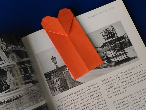 Origami Model Bookmark before