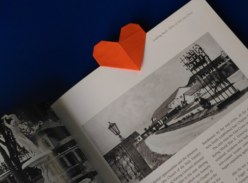 Origami Model Bookmark Heartclip usage